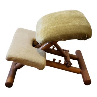 Vintage Mid Century Peter Opsvik for Stokke Westnofa Ergonomic Balans Kneeling Posture Chair For Sale