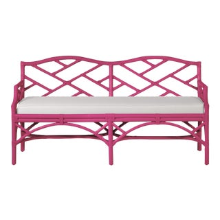 Chippendale Bench - Bright Pink For Sale