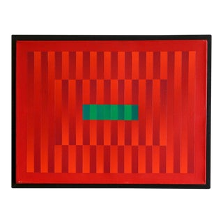 """Francis Tansey """"Linear Red"""" Painting"""