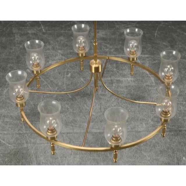Brass Large Brass Chandelier by Svend Mejlstrøm, 1960s For Sale - Image 7 of 10