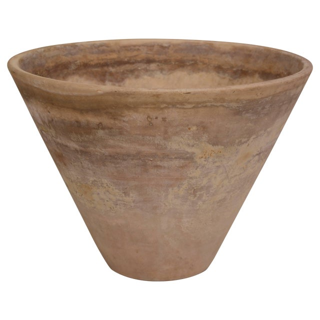 Large, Heavily Patinated Architectural Pottery Planter by Lagardo Tacket For Sale