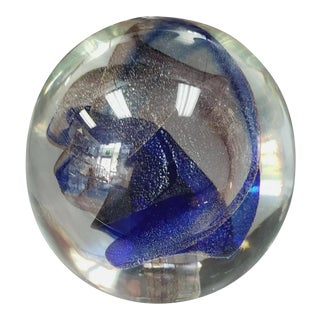 1986 Peet Robison Art Glass Paperweight For Sale