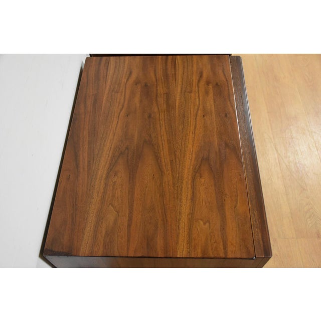 Mid-Century Brutalist Walnut Nightstands - A Pair - Image 7 of 11