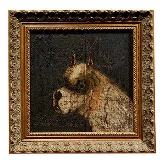 """Old English Bulldog"" Dog Portrait British School Oil Painting on Canvas on Board Circa 1820 For Sale"