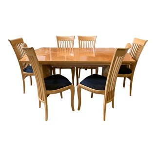 Italian Contemporary Dining Set by A. Sibau For Sale
