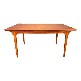 Vintage Danish Mid Century Modern Teak Dining Table Model#54 by Gunni Omann For Sale