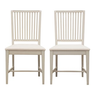 Gustavian Leksand Chairs - Pair For Sale