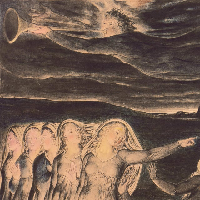 Late 19th Century 'The Parable of the Wise and Foolish Virgins' by William Blake, Proto-Symbolist Lithograph For Sale - Image 5 of 12