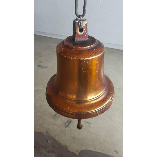 Art Deco Large Danish Midcentury Brass Ship's Bell For Sale - Image 3 of 7