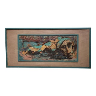 1959 Mid-Century Modern SIgned Painting For Sale