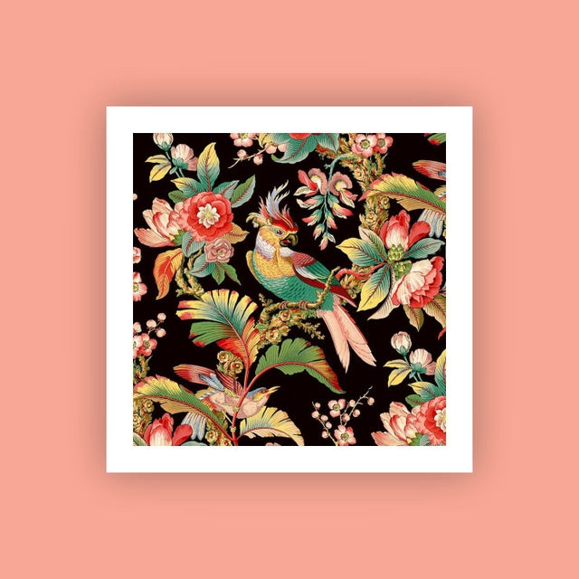 Asian Antique 'Chinoiserie Wallpaper' Archival Print For Sale - Image 3 of 3
