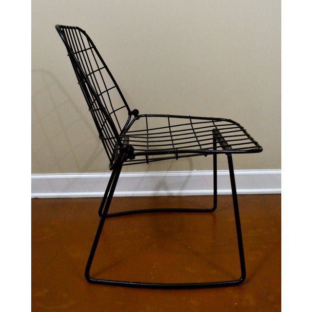 Vintage Danish Modern Wire Side Chair - Image 4 of 10