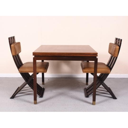Contemporary Rare & Outstanding Harvey Probber Games Table & Scissor Chairs For Sale - Image 3 of 11