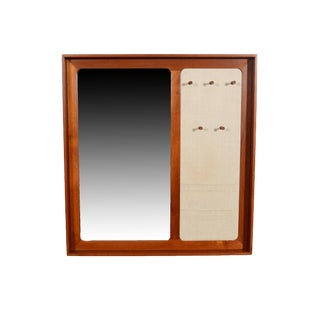 Aksel Kjersgaard Odder Denmark Teak Mirror With Key Holder For Sale
