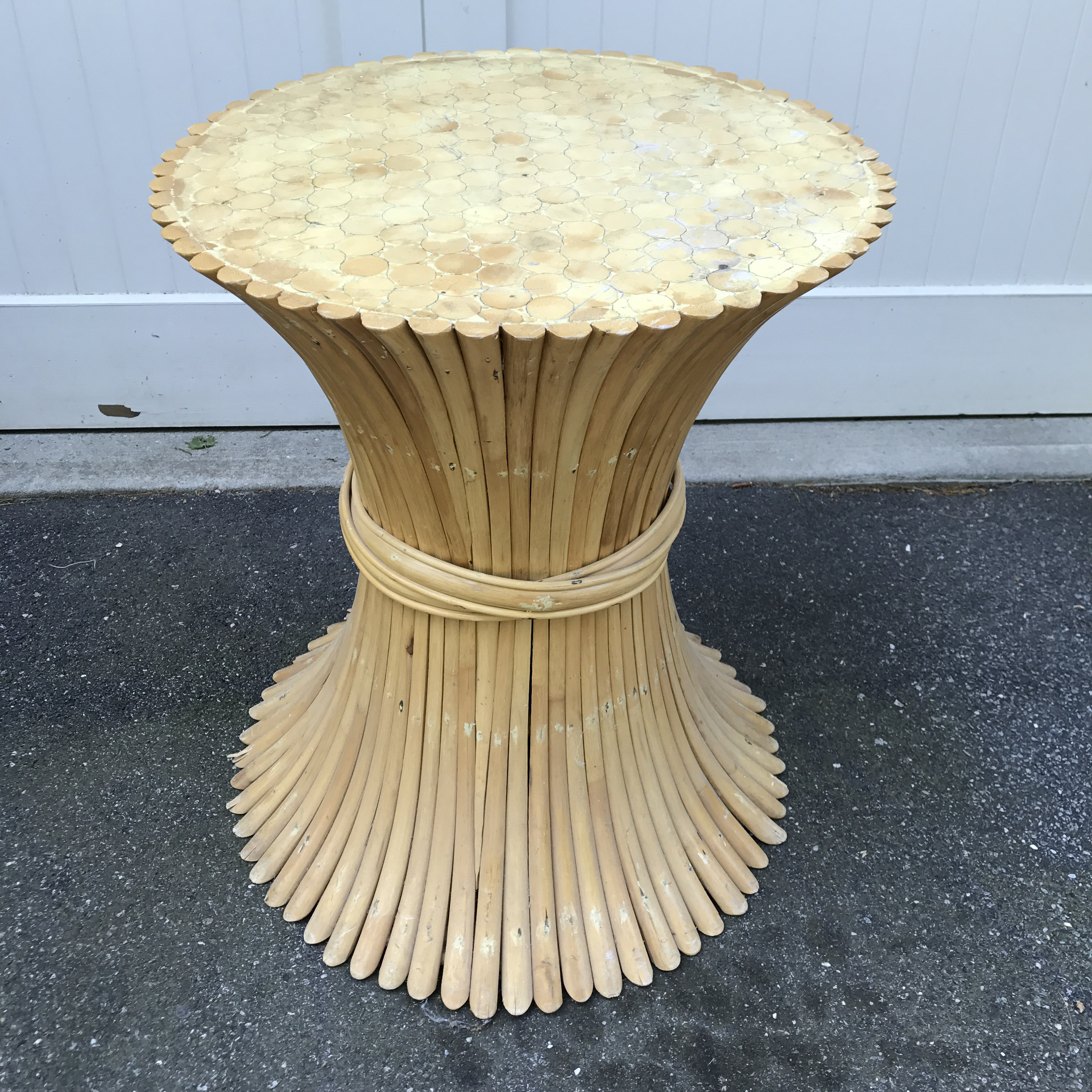 Exceptional Rattan Sheaf Wheat Dining Table Base   Image 2 Of 10