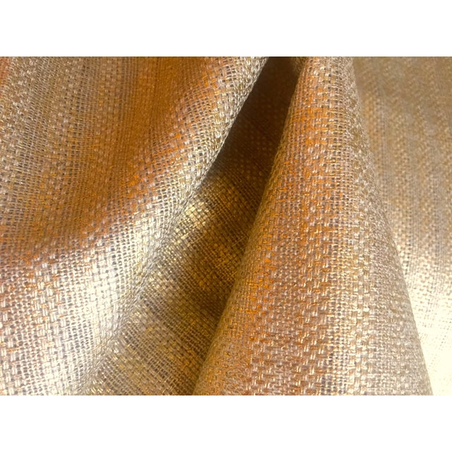 Contemporary Designer's Guild Sassiere Gold Linen Wide Width Fabric - 2.25 Yards For Sale - Image 3 of 10