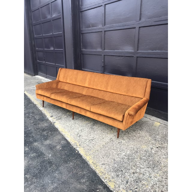 Milo Baughman Reupholstered! Early Milo Baughman Thayer Coggin Four Seat Sofa For Sale - Image 4 of 13