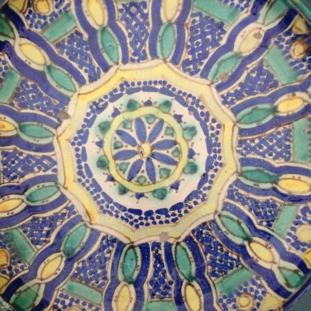 Hand Painted Moroccan Platter - Image 7 of 7