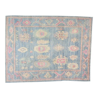 """Turkish Anatolian Oushak Hand Knotted Rug With Natural Colors,9'2""""x11'8"""" For Sale"""
