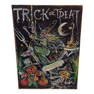 """Original Painting on Canvas """"Trick or Treat"""" by Robert Gordon"""