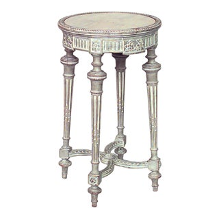 French Louis XVI Bleached Round End Table For Sale
