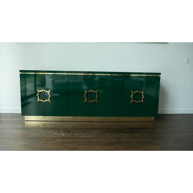 This amazing 1960's emerald green credenza is from Steve Allen and his wife Jayne Meadows California home. The house was...