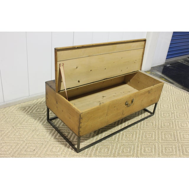 1970s French Country Trunk Coffee Table For Sale - Image 4 of 8