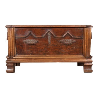 Early 19th Century French Oak Coffer For Sale