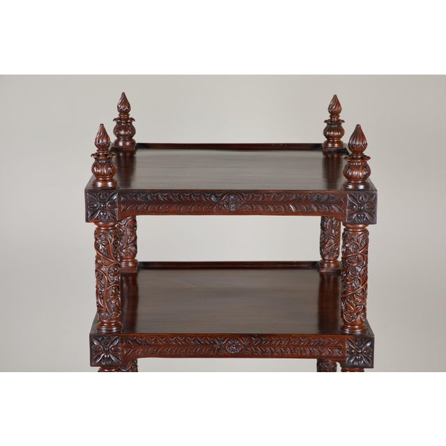 19th Century Four Tiered Rosewood Carved Etagere - Image 5 of 10
