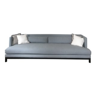 CB2 Brava Sofa in Custom Gray Flannel For Sale