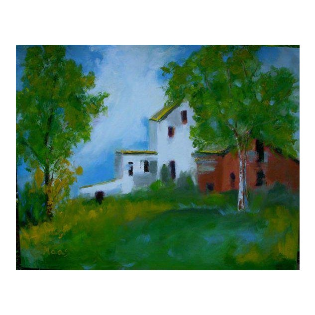 """""""Country Farm"""" Oil Painting Comes Framed For Sale"""