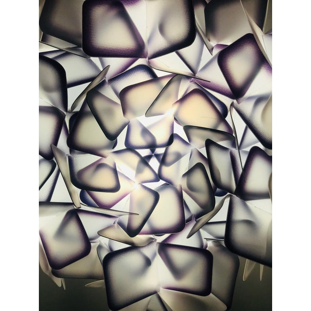 Metal Modern Geometric Flush Mount Chandelier in Woven Resin Clusters by Slamp For Sale - Image 7 of 13