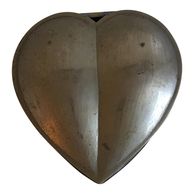 Brass Heart Vintage Jewelry Box - Image 1 of 7
