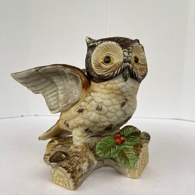 Vintage Ceramic Owl Figurine For Sale - Image 11 of 11