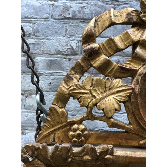 Giltwood Beautiful Small 18th Century Mirror Louis XVI For Sale - Image 7 of 12