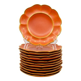 Mid 20th Century Swedish Gefle Kardinal Plates by Arthur Percy - Set of 12 For Sale