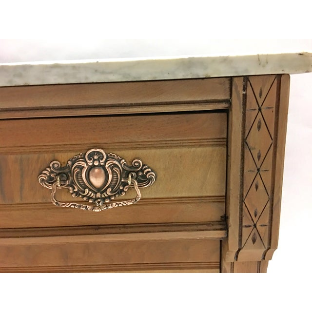 19th C. Mahogany & Marble Chest For Sale - Image 5 of 11