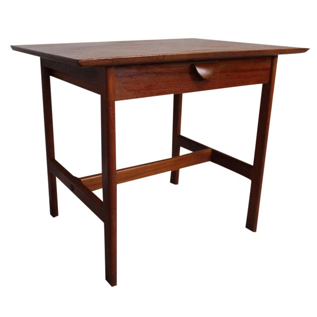 George Tanier Teak Side Table by P. Jeppeson For Sale