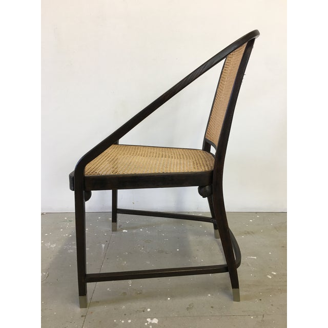 Josef Hoffmann Caned Side Chair For Sale - Image 10 of 13