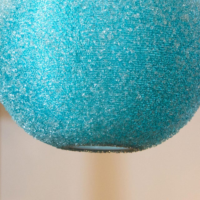1970s Modern Textured Globe-Shaped Light For Sale - Image 5 of 6