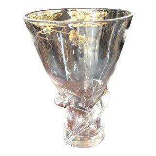 Donald Pollard Steuben Spiral Twist Vase For Sale