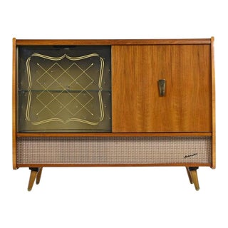 Blaupunkt Arkansas 59 Tube Stereo Record Player Console With Bar Cabinet For Sale