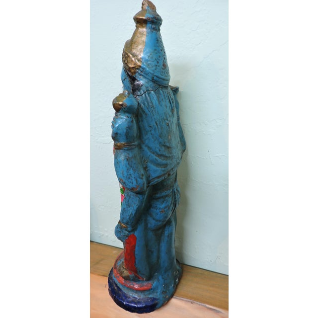 Asian Polychromatic Krishna Figure For Sale - Image 3 of 5