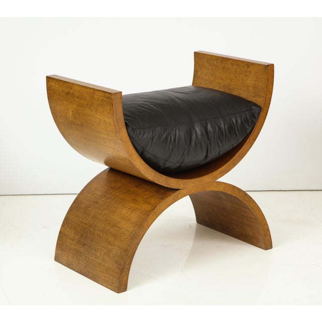 Jay Spectre Curule Benches by Jay Spectre (Set of 4) For Sale - Image 4 of 13