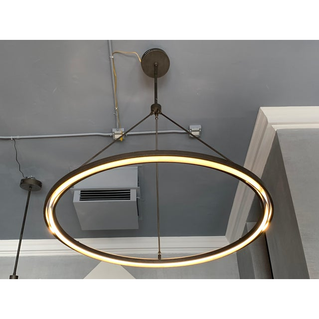 Contemporary Peralta Round Chandelier by Jon Sarriugarte For Sale - Image 3 of 13