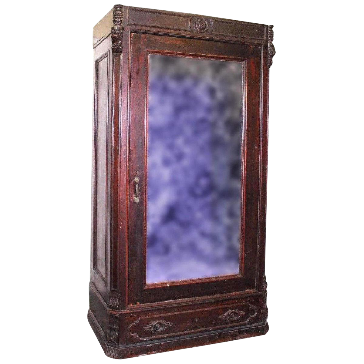 1750 Louis XVI Early 18th Century Antique Armoire Wardrobe Cabinet Chest