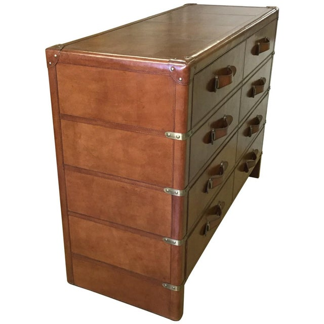 Leather Accent Chest of Drawers - Image 4 of 6