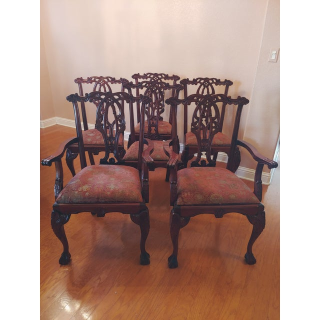 Chippendale-Style Mahogany Dining Chairs - Set of 6 For Sale - Image 13 of 13
