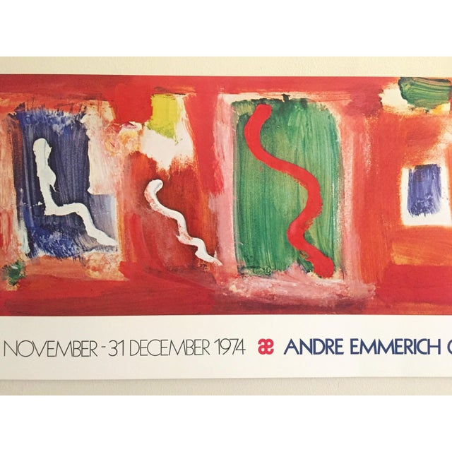 Abstract Hans Hofmann Vintage 1974 Abstract Expressionist Lithograph Print Exhibition Poster For Sale - Image 3 of 9