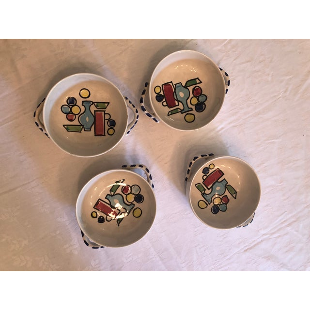 Ceramic Vintage French Style Soup Set - 5 Piece Set For Sale - Image 7 of 10